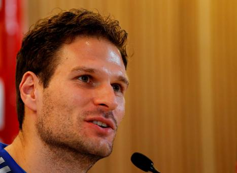 Football - Bosnia & Herzegovina Press Conference - Aviva Stadium, Dublin, Republic of Ireland - 15/11/15 Bosnia's Asmir Begovic during the press conference Action Images via Reuters / Lee Smith Livepic