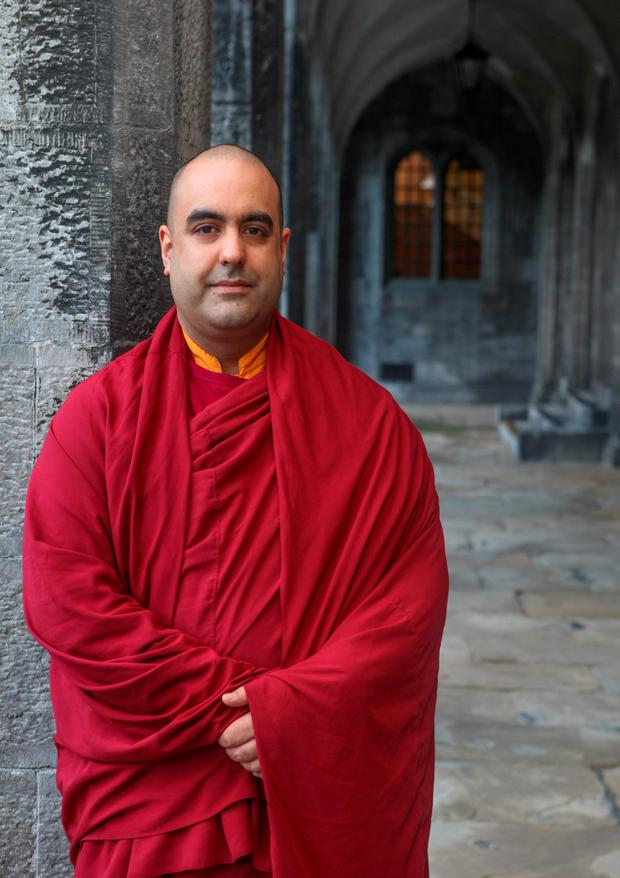 Tibetan Buddhist monk Gelong Thubten at NUI Galway