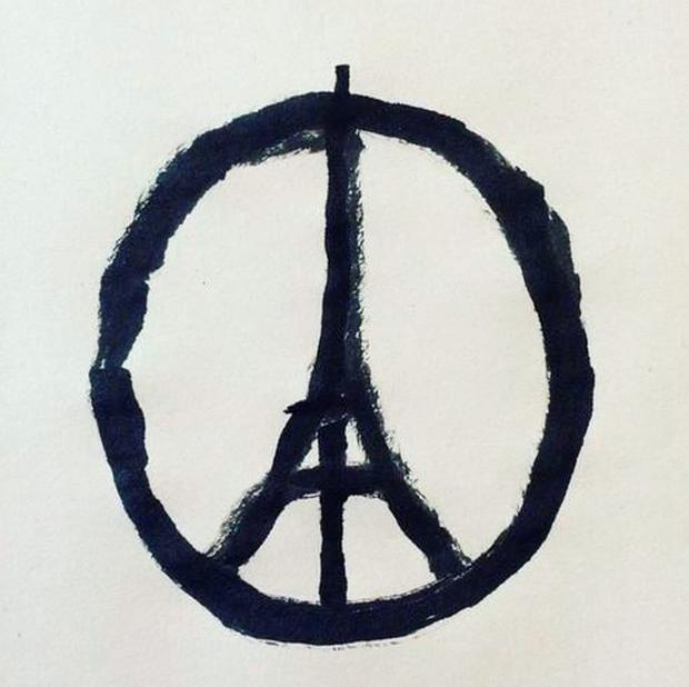 Jean Jullien's Peace for Paris symbol