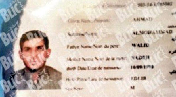 The Syrian passport found near one of the bombers