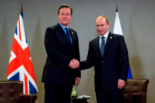 Prime Minister David Cameron holds a meeting with Russian President Vladimir Putin at the G20 Turkey Leaders Summit in Antalya, Turkey. Photo: Stefan Rousseau/PA Wire