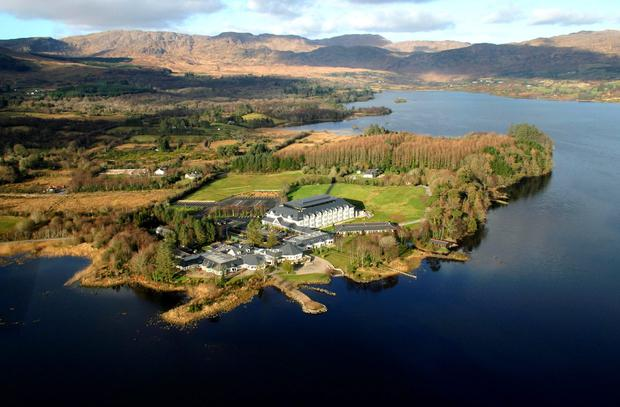 Harvey's Point, Co. Donegal: Aerial view