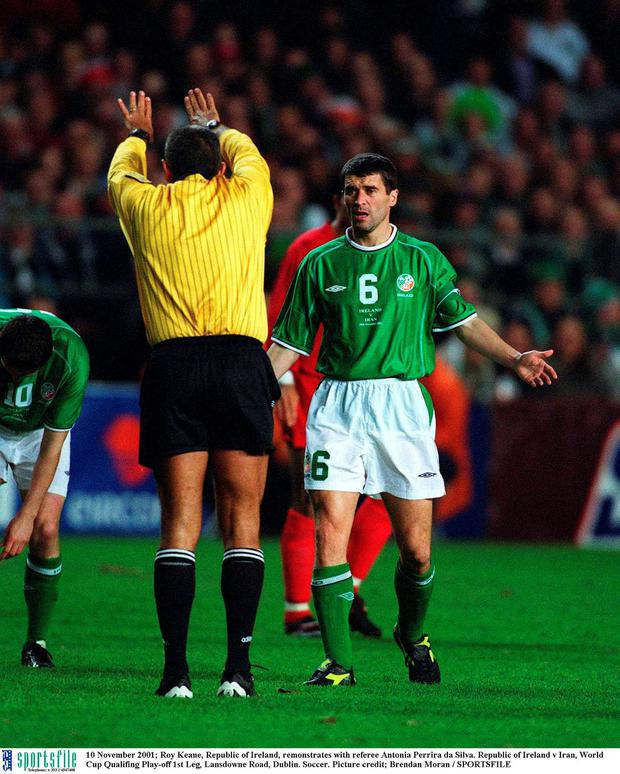 Roy Keane in action back in 2001