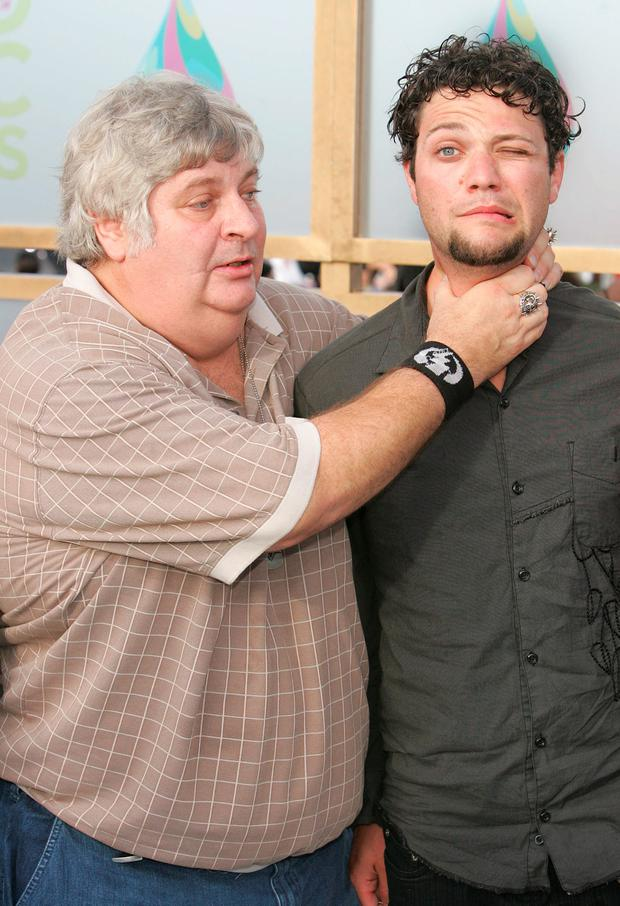 MIAMI - AUGUST 28: Vincent Margera (L) and Bam Margera of
