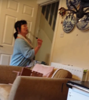 Mammy prepares to eliminate the target Credit: YouTube/ShaneO'Connor