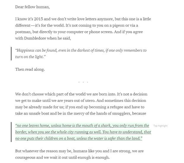 The first few paragraphs of Sarah's blog post.