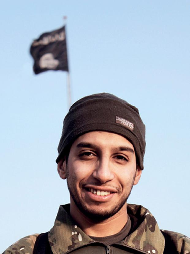 An undated picture from the February 2015 issue 7 of the Islamic State (IS) group online English-language magazine Dabiq, purportedly shows 27-year-old Belgian IS group leading militant Abdelhamid Abaaoud. Photo: AFP/Getty Images