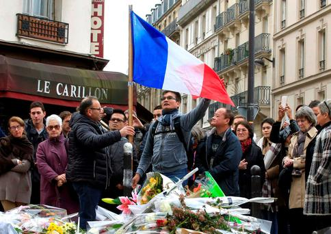 Solidarity: Mourners in Paris