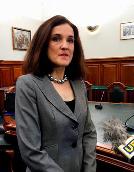 MAKE YOUR MIND UP TIME: Northern Ireland Secretary Theresa Villiers