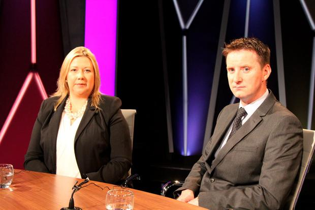 Gillian and Ronan Treacy on RTE One's Claire Byrne Live (Photo: RTE One)