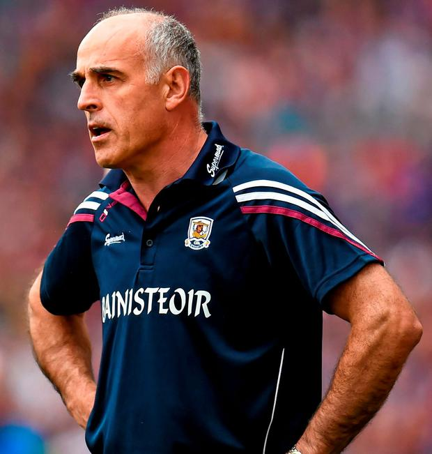 16 August 2015; Galway manager Anthony Cunningham. GAA Hurling All-Ireland Senior Championship, Semi-Final, Tipperary v Galway. Croke Park, Dublin. Picture credit: Stephen McCarthy / SPORTSFILE