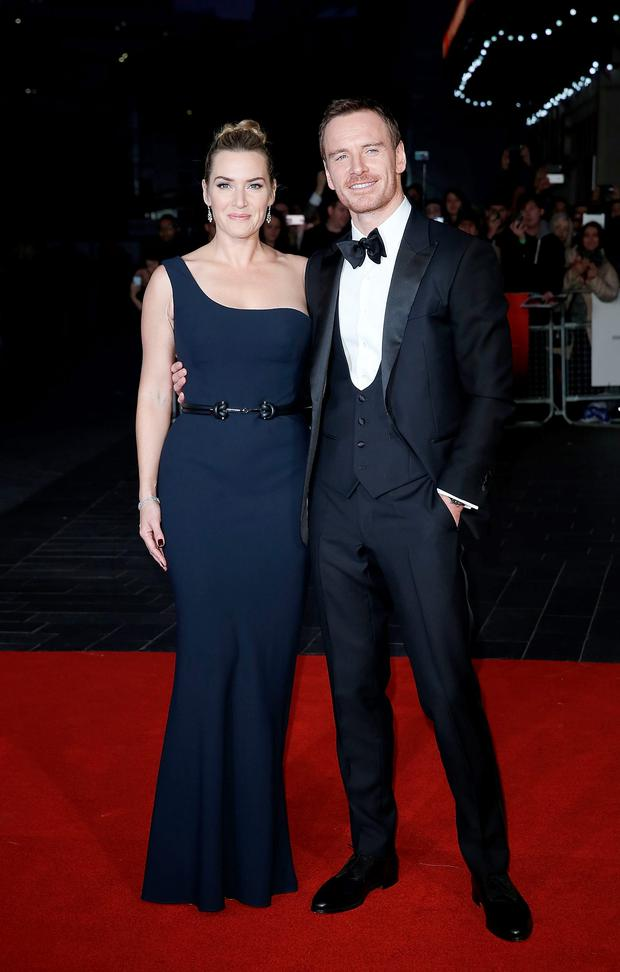 Kate Winslet and Michael Fassbender attend the