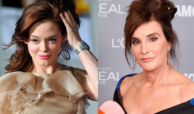 Rose McGowan (left) and Caitlyn Jenner (right)
