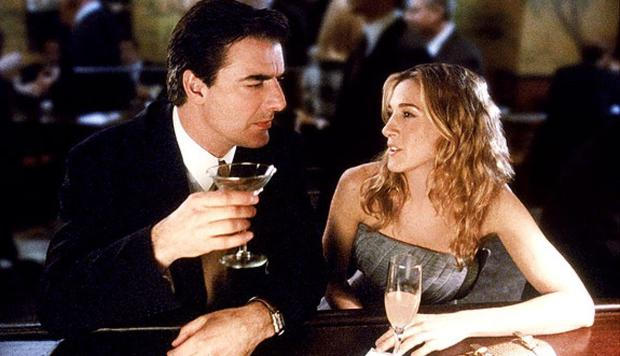 Carrie and Mr Big in Sex and the City