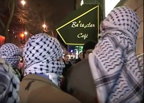 Stills taken from the video where the club was allegedly threatened by extremists
