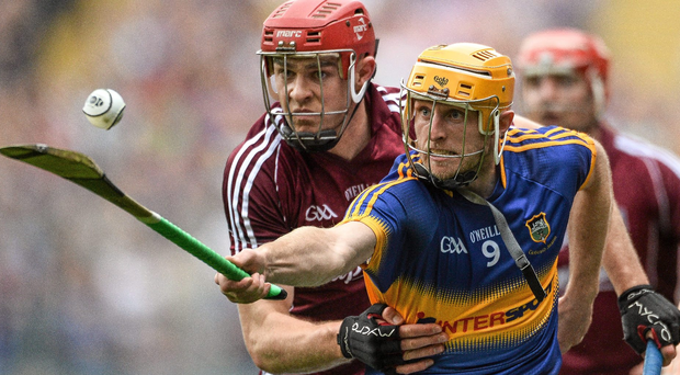 Tipperary's Shane McGrath in action against Galway's Jonathan Glynn during the 2015 All-Ireland hurling semi-final.