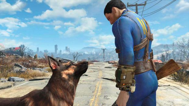 Fallout 4: The dog is one of several optional companions but they're often as much of a hindrance as help