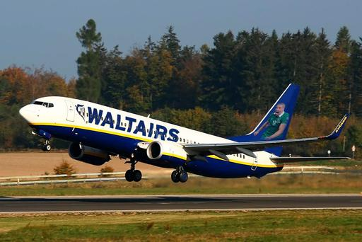 Ryanair: The airline released a photoshopped image of one of its planes celebrates Jon Walters' goals against Bosnia in the Euro 2016 play-offs.