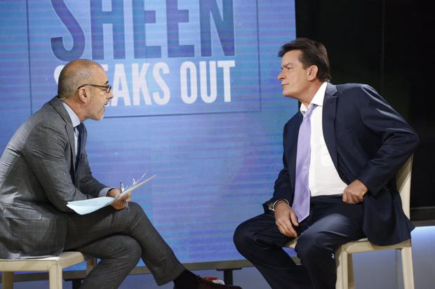 Charlie Sheen on the Today Show to discuss his HIV status