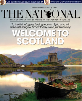 The front cover of The National Credit:Twitter/The National