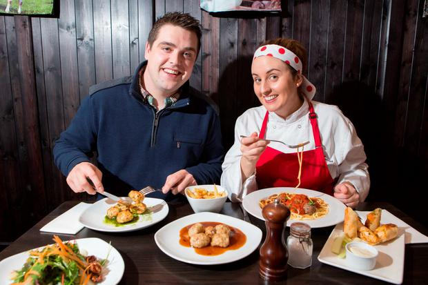 Ireland's first meatball restaurant opens its doors in Cork! Pictured at the launch of The Meatball Place are owner Tony Costello and owner and chef, Cork-born Grainne Holland.