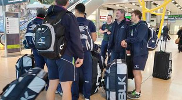Connacht players and management arrive back from Russia