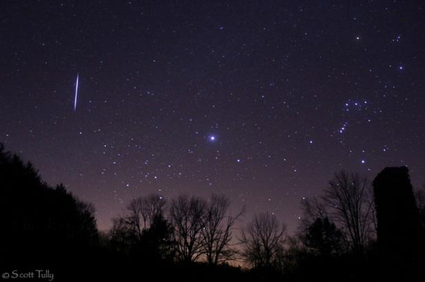A Leonid meteor shower Credit:Twitter/Scott Tully