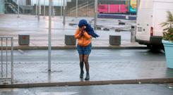 High winds in Dun Laoghaire Co Dublin this afternoon Pic Stephen Collins/Collins Photos