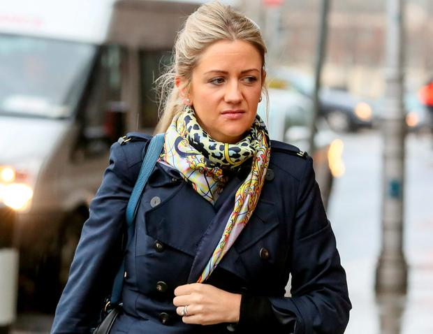 Former Aer Lingus flight attendant Cassandra Reddin at the High Court yesterday. Photo: Courtpix