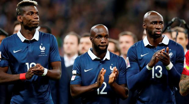Paul Pogba, Lassana Diarra and Eliaquim Mangala