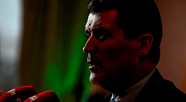 Roy Keane was in positive mood during yesterday's press conference in Castleknock