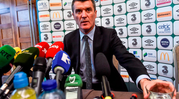 Keane speaking to reporters at the Castleknock Hotel & Country Club in Dublin this week