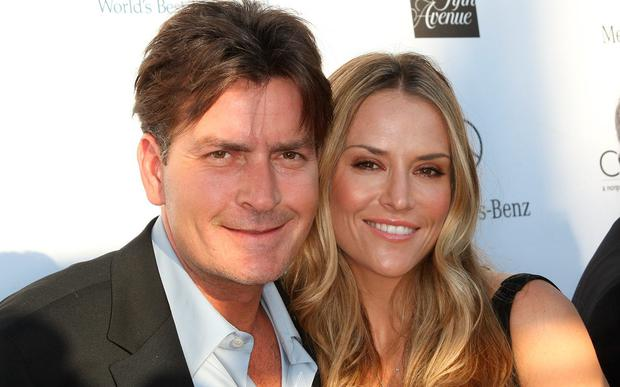 Charlie Sheen and ex-wife Brooke Mueller
