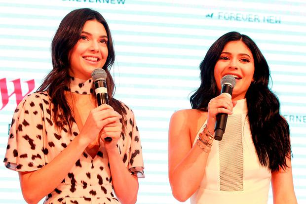 Kendall Jenner and Kylie Jenner arrive at Westfield Parramatta on November 17, 2015 in Sydney, Australia. (Photo by Lisa Maree Williams/Getty Images)