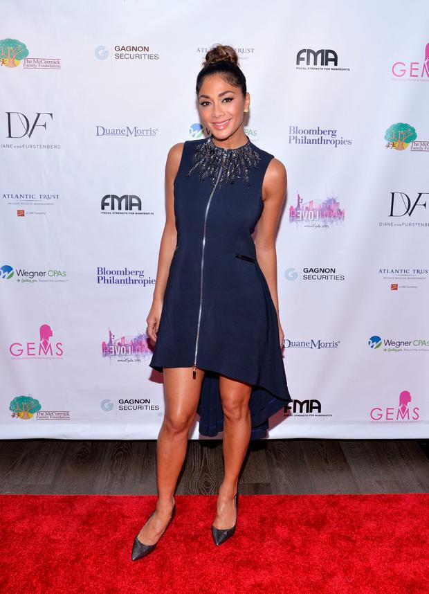 Nicole Scherzinger attends the GEMS' 2015 Love Revolution Gala at Pier 59 on October 15, 2015 in New York City. (Photo by Grant Lamos IV/Getty Images)