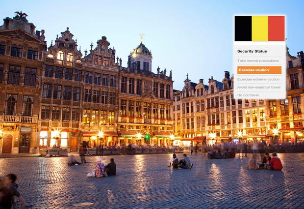 Brussels: Ireland's Department of Foreign Affairs has changed its travel advice for Belgium. Photo/Composite: Deposit