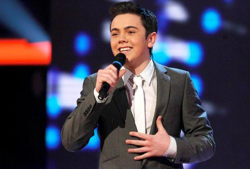 Ray Quinn performing on X Factor in 2006 when he was 18