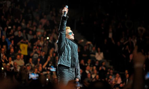 U2 live at the SSE Arena in Belfast. Picture by Justin Kernoghan