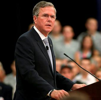 Republican U.S. presidential candidate Jeb Bush says he wants more US troops in the Middle East