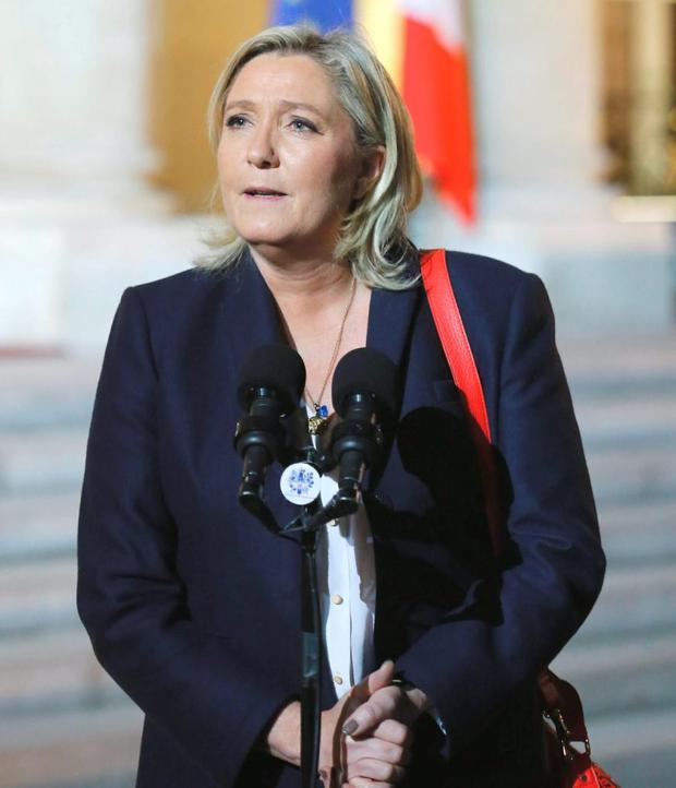 French far-right party Front National leader Marine Le Pen