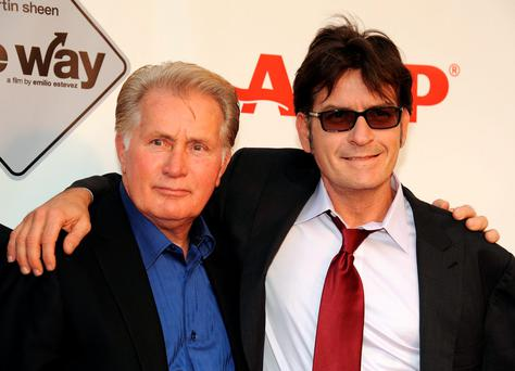 Actors Martin Sheen and Charlie Sheen in 2011