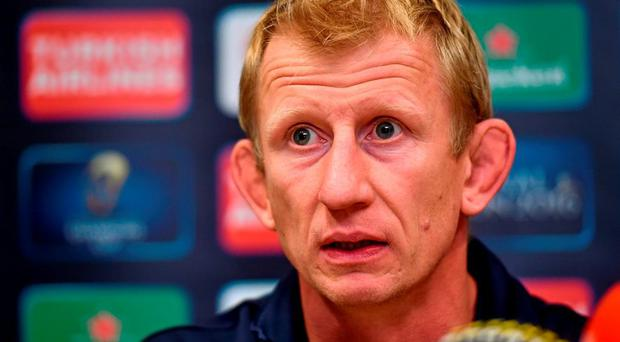 Leinster head coach Leo Cullen during a press conference today. Leinster Rugby Press Conference, Leinster Rugby, UCD, Belfield, Dublin. Picture credit: Matt Browne / SPORTSFILE