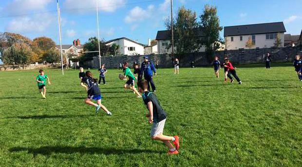 200 boys and girls converged on Suttonians RFC for their primary school tag rugby event
