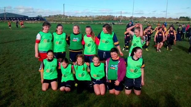 Ballinasloe girls at a recent blitz