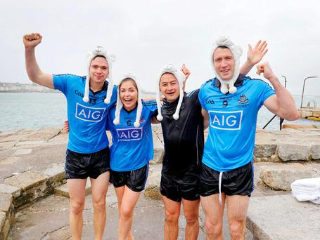 Dublin football champ Dean Rock,Dublin Ladies player Sinead Finnegan, former player Jason Sherlock, and Dublin football champ Denis Bastick have joined forces with Special Olympics Ireland to call on people to get freezin' for a reason this December