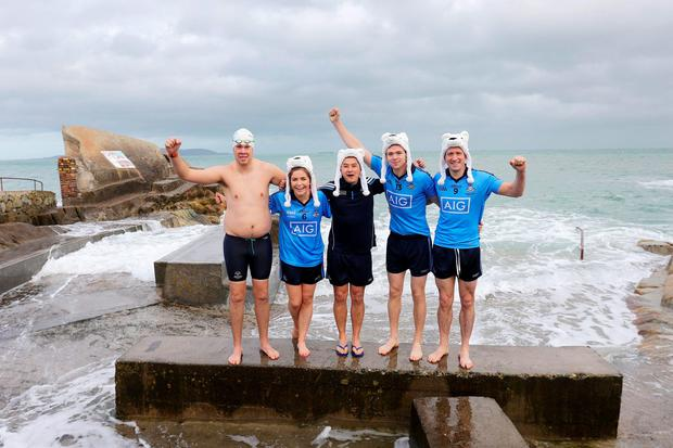 Dublin Ladies player Sinead Finnegan, former player Jason Sherlock, Dublin football champs Dean Rock, Denis Bastick, have joined forces with Special Olympics Ireland to call on people to get freezin' for a reason this December