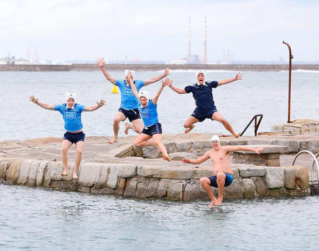 Dublin football champ Dean Rock, Denis Bastick,Dublin Ladies player Sinead Finnegan, former player Jason Sherlock, Dublin football champs Dean Rock, Denis Bastick, have joined forces with Special Olympics Ireland to call on people to get freezin' for a reason this December