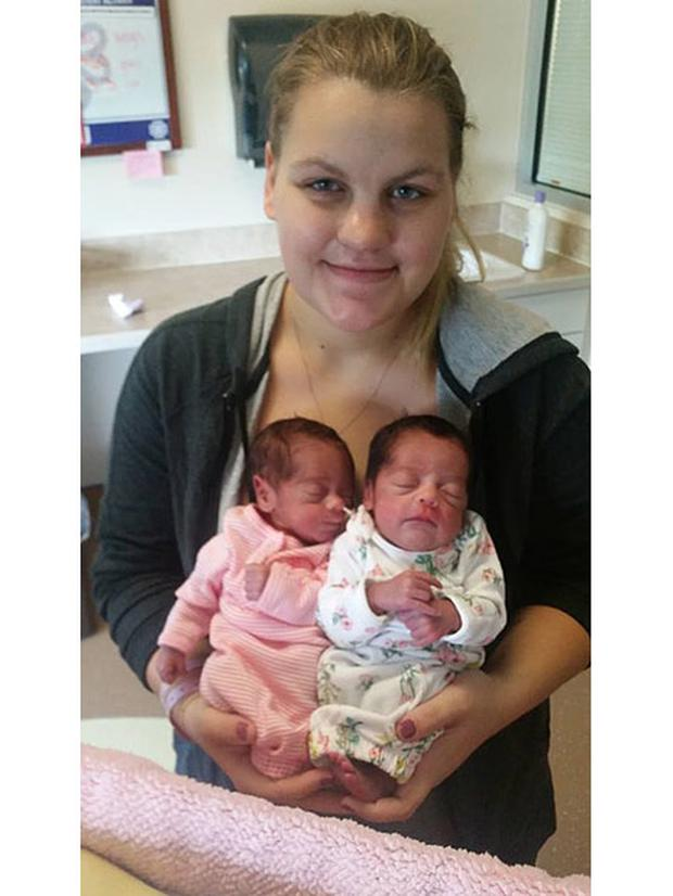 Megan Hiatt and her twin daughters Credit:GoFundMe/Megan Hiatt