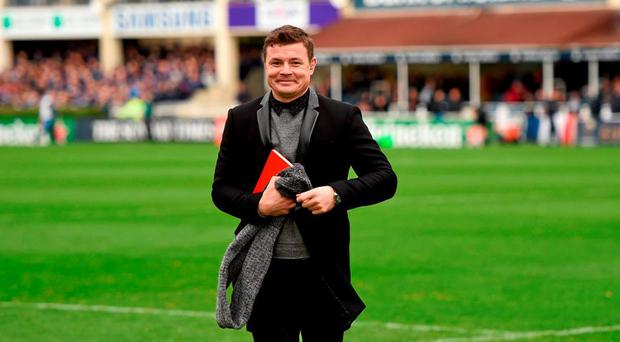 BT Sport's Brian O'Driscoll. European Rugby Champions Cup, Pool 5, Round 1, Leinster v Wasps. RDS, Ballsbridge, Dublin. Picture credit: Stephen McCarthy / SPORTSFILE