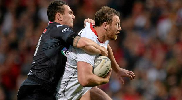 Willie Faloon, right, retains the captaincy for Ulster A against Bedford Blues this afternoon